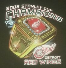 Detroit Red Wings hockey nhl Mens large 2008 Stanley Cup Champions Ring T-Shirt