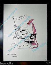 Sad Pink Panther over Friz Freleng Animation Desk Tribute16x20 Speechless FRAMED