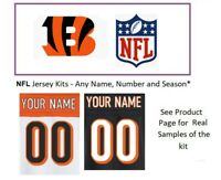 NFL Cincinnati Bengals Jersey Kit Custom Lettering ANY YEAR Name Number UNSEWN
