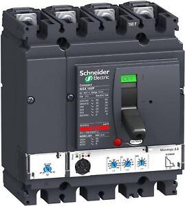 Schneider Electric LV430781 NSX160 °F Circuit Breaker 4P Pin/4d, Micrológico 2.2