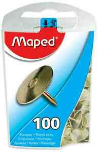 [Ref:311011] MAPED Boîte distributrice de 100 punaises cuivrées