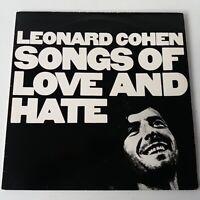 Leonard Cohen - Songs of Love and Hate - Vinyl LP UK 1970's Press EX+
