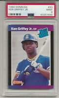 1989 DONRUSS #33 KEN GRIFFEY JR. ROOKIE, PSA 9 MINT, HOF, L@@K !