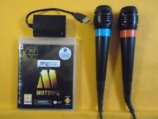 Ps3 SingStar Motown + 2 con Cable Micrófonos Micrófonos Singstar PAL Reino Unido Región Libre