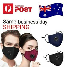 5 X PM2.5 Anti Air Pollution Face MASK Respirator With Filters Washable&Reusable