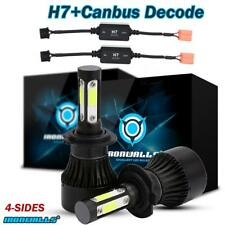 H7 Cree LED Headlights Kit 1700W 255000LM Conversion Bulb 6000K + Canbus Decoder