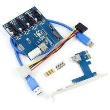 USB 3.0 PCI-E 1X Expansion Kit 1 to 4 Ports Switch Multiplier Hub Riser Card