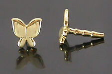 14kt Yellow Gold Butterfly For BioPlastic Nose Screw Stem or Labret BioPlast