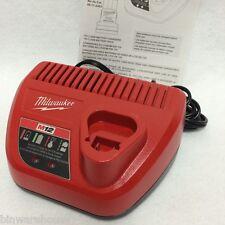 NEW Milwaukee 48-59-2401 M12 12V 12 V 12 Volt  Lithium Ion Battery Charger 110v