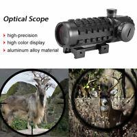 Hunting 3X28 Red Green Dot Optics Scope Fit 11/20mm Rail Cross Sight Riflescope