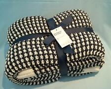 Riviera Blue & White Popcorn Knitted THROW 125 x 150 cm  New Free p&p