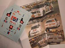 "DECAL CALCA 1/43 BMW M3 ""TEXACO"" J.M.PONCE RALLY CORTE INGLES 1988"