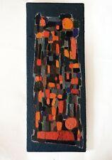 Peinture à l'huile sur panneau - Composition abstraite signé et daté 1970