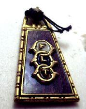 NOS Antique Gold GF FLT Independent Order of Odd Fellows Pendant Fob Enamel Z412