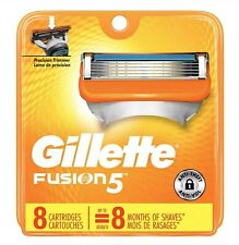 8 Gillette Fusion 5 Men's 5-Blade Razor Cartridges Fits All Fusion 5 Handles