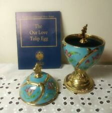 New listing Franklin Mint House of Faberge Musical Egg Tulip - Our Love