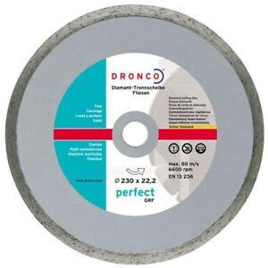 Dronco Disco diamantato D 230mm 230 X 22,23 6600 rpm taglio lastre e piastrelle