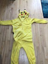 Pikachu Pokemon Costume Jumpsuit/One Piece Sleepwear Adult Unisex Pajamas Sz M