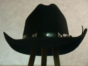 Bullhide Montecarlo Cowboy Hat 2XBlack XL Horse Studs