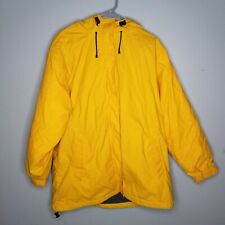 LANDS' END WINTER RAIN COAT  Womens YELLOW SIZE Large 14-16 Fleece Lined