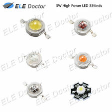 5W watts High Power SMD LED Chip Light Beads White Red Blue Yellow With PCB