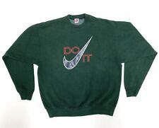 New listing True Vintage Nike Sweatshirt Men's Large Swoosh Do It Gray Tag Usa Green 80's