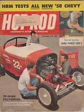 HOD ROD Magazine / December 1957 / '58 Chevy... A New Breed / 1/2 Mile Reno Drag