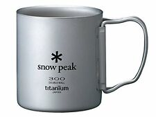 Snow Peak Titanium Double Wall Cup 300 with Folding Handle Japan Import F/S