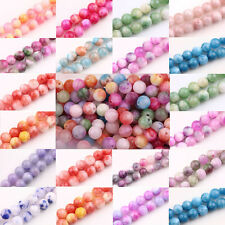 Glass Persia Jade Round Loose Beads Spacer Handmade DIY Crafts Jewelry Making