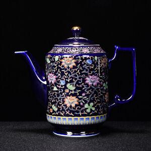 big tea pot Jingdezhen handpainted porcelain pot ceramic color enamel craft pot