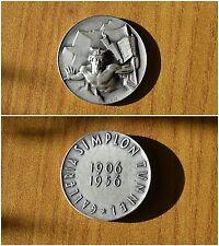 MÉDAILLE GALERIE SIMPLON TUNNEL 1906 1956 EN ARGENT POIDS 29 gr SUBALPINA