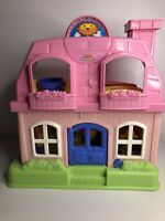 Fisher Price Little People Happy Sounds pink Home Doll House with Figures (92)