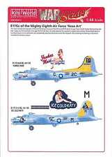 Kits World Decals 1/48 B-17G FLYING FORTRES Yankee Maid & Ice Cold Katy