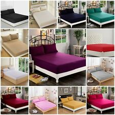 Extra Deep 30cm Fitted Sheet Bed Sheets 100% Poly Cotton Single Double King Size