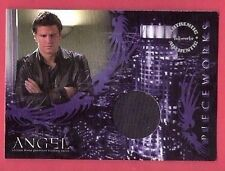 DAVID BOREANAZ WORN COSTUME SHIRT RELIC SWATCH CARD ANGEL BONES TV SHOW INKWORKS