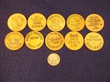 #5 of 8, LOT OF 10 VTG WOOD NICKELS - YUMA COIN CLUB, FREE CLAM CHOWDER, DRINKS