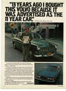 1979 VOLVO 244 William Stiles loves his 1966 green Volvo 122s Vintage Print Ad