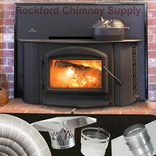 "Wood Burning Fireplace Insert Napoleon 1402 with 6"" x 20' Chimney Liner Kit"