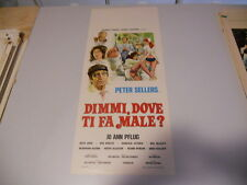 LOCANDINA ORIGINALE DIMMI DOVE TI FA MALE ? PETER SELLERS 1974