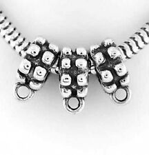 SILVER THREE PIECES BEAD HANGER FOR EUROPEAN BRACELET
