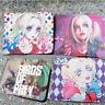 Birds of Prey Harley Quinn short PU leather wallet Bi-fold Card Holder Purse