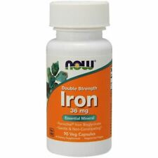 Now Foods Iron Double Strength 36mg 90 Veg Capsules