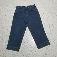 Woman's Jones Sport Denim Blue Capri Jeans ~ Sz 8 ~ Stretch ~ Cotton Blend