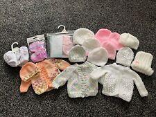 Baby Hat and Cardigan bundle tiny baby to newborn