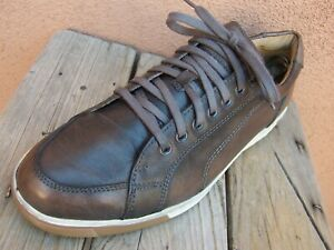 COLE HAAN Mens Casual Burnished Brown Leather Tennis Sneaker Sport Shoes Size 8M