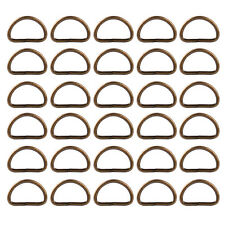 25pcs Metal D Ring 20mm Buckle fit Strapping Webbing Purse Leather Bag Crafts