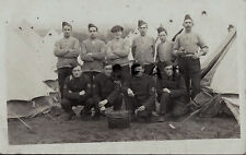 WW1 Soldat gruppe RAMC Royal Army Medical Corps im zelt camp Kitcheners Armee