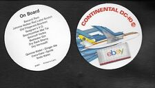 CONTINENTAL AIRLINES (2) DC-10 PAPER COASTER 1970'S