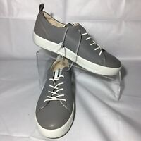 Ecco Danish Design Women's Soft 8 Gray Laced Fashion Sneaker Shoes - Size 6