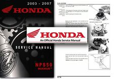 Honda NPS50 Ruckus Zoomer Service Workshop Repair Shop Manual NPS 50 Scooter